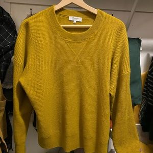 Madewell cashmere waffle knit sweater Sz L
